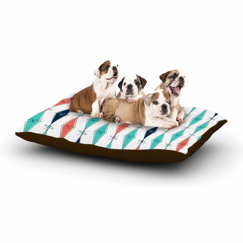 "Afe Images ""Rhombus Pattern"" Teal Blue Illustration Dog Bed"