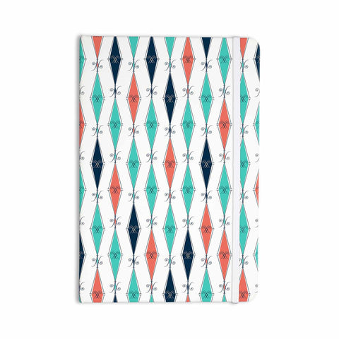 "Afe Images ""Rhombus Pattern"" Teal Blue Illustration Everything Notebook"