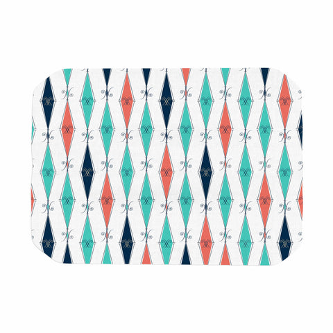 "Afe Images ""Rhombus Pattern"" Teal Blue Illustration Place Mat"
