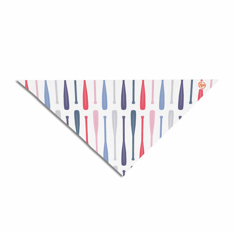 "Afe Images ""Canoe Paddles"" Multicolor Digital Illustration Pet Bandana"