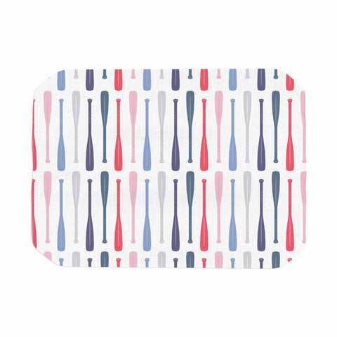 "Afe Images ""Canoe Paddles"" Multicolor Digital Illustration Place Mat"