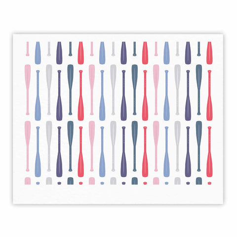 "Afe Images ""Canoe Paddles"" Multicolor Digital Illustration Fine Art Gallery Print"