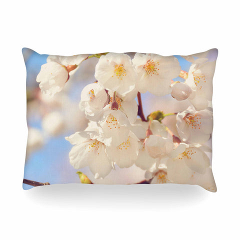 "AFE Images ""Cherry Blossoms"" Multicolor Blue Photography Oblong Pillow"