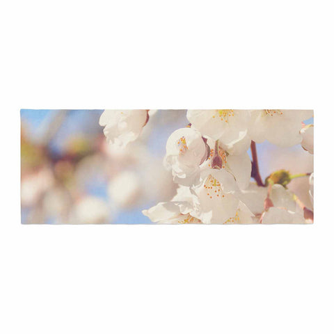 "AFE Images ""Cherry Blossoms"" Multicolor Blue Photography Bed Runner"