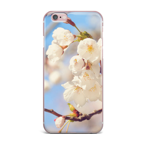 "AFE Images ""Cherry Blossoms"" Multicolor Blue Photography iPhone Case"
