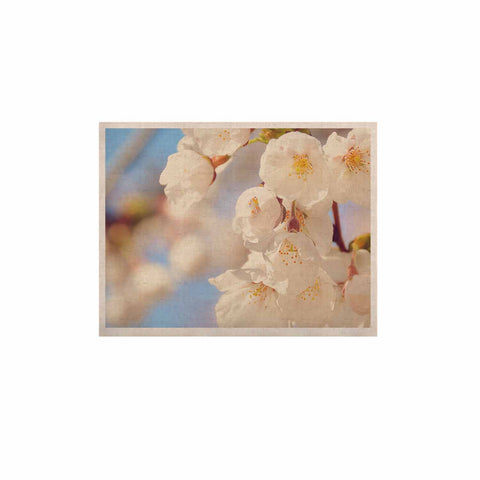 "AFE Images ""Cherry Blossoms"" Multicolor Blue Photography KESS Naturals Canvas (Frame not Included)"