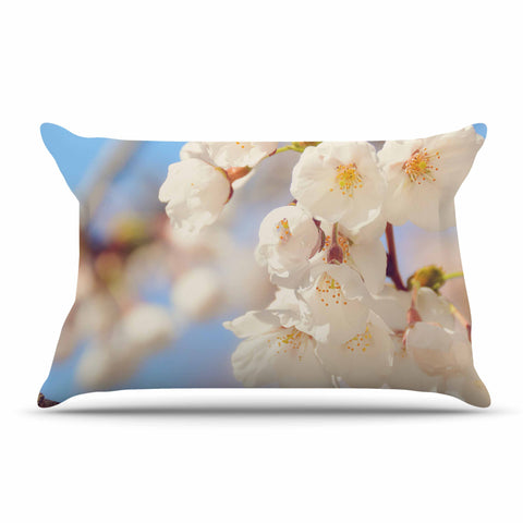 "AFE Images ""Cherry Blossoms"" Multicolor Blue Photography Pillow Sham"