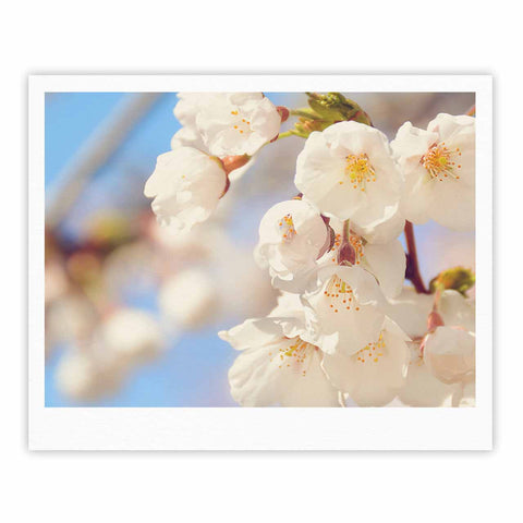 "AFE Images ""Cherry Blossoms"" Multicolor Blue Photography Fine Art Gallery Print"