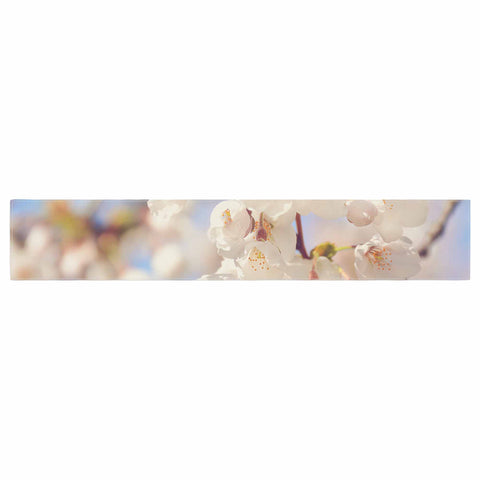 "AFE Images ""Cherry Blossoms"" Multicolor Blue Photography Table Runner"