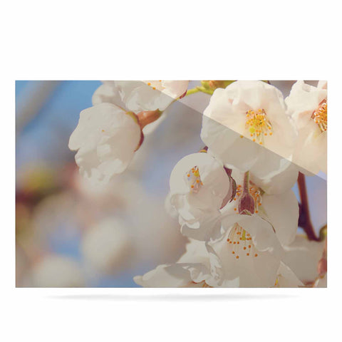 "AFE Images ""Cherry Blossoms"" Multicolor Blue Photography Luxe Rectangle Panel"