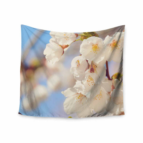 "AFE Images ""Cherry Blossoms"" Multicolor Blue Photography Wall Tapestry"