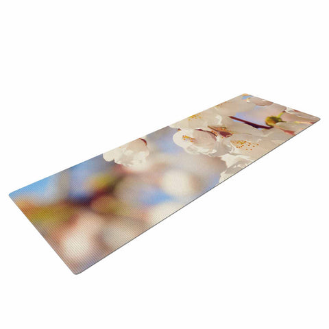 "AFE Images ""Cherry Blossoms"" Multicolor Blue Photography Yoga Mat"