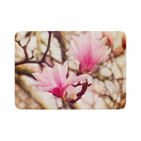 "AFE Images ""Magnolias"" Pink Brown Photography Memory Foam Bath Mat"