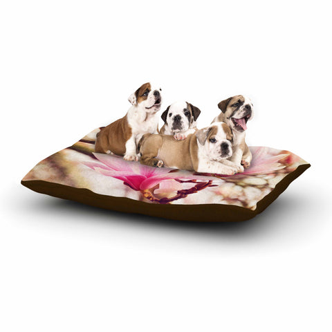 "AFE Images ""Magnolias"" Pink Brown Photography Dog Bed"