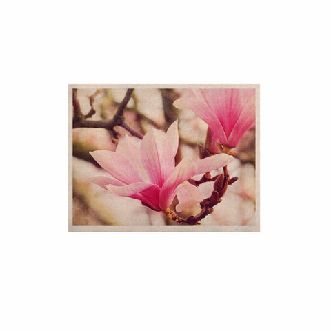 "AFE Images ""Magnolias"" Pink Brown Photography KESS Naturals Canvas (Frame not Included)"