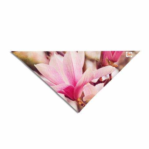 "Afe Images ""Magnolias"" Pink Brown Photography Pet Bandana"