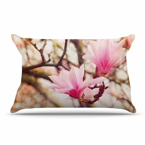 "AFE Images ""Magnolias"" Pink Brown Photography Pillow Sham"