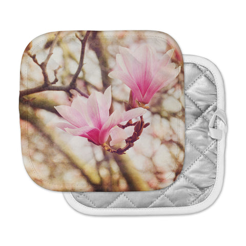 "AFE Images ""Magnolias"" Pink Brown Photography Pot Holder"
