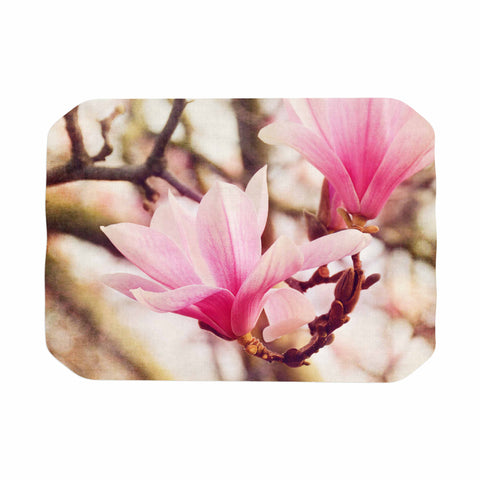 "AFE Images ""Magnolias"" Pink Brown Photography Place Mat"