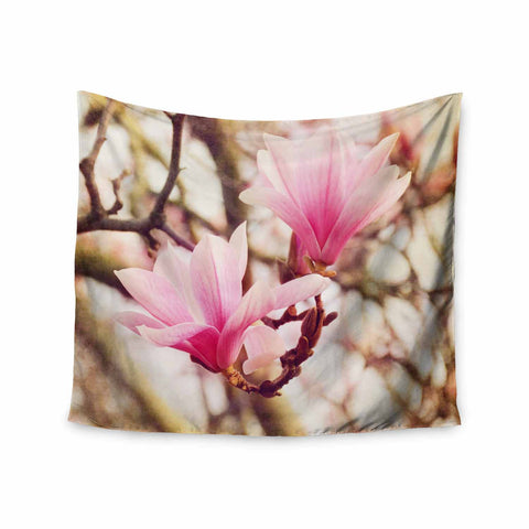 "AFE Images ""Magnolias"" Pink Brown Photography Wall Tapestry"