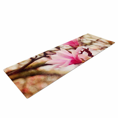 "AFE Images ""Magnolias"" Pink Brown Photography Yoga Mat"