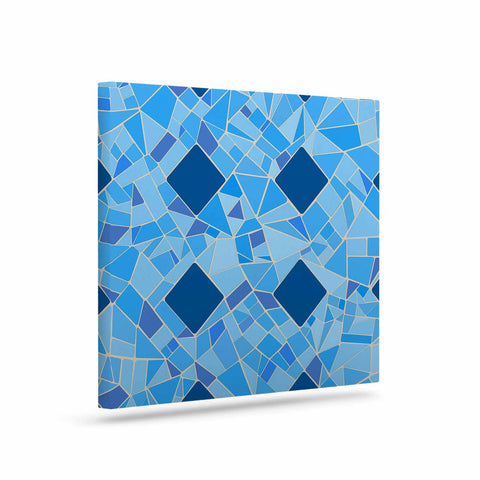 "Afe Images ""Abstract Mosaic Pattern2"" Blue Teal Digital Art Canvas"