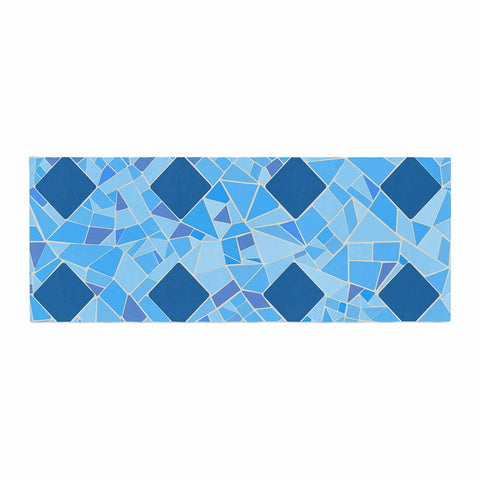 "Afe Images ""Abstract Mosaic Pattern2"" Blue Teal Digital Bed Runner"