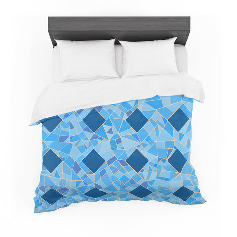 "Afe Images ""Abstract Mosaic Pattern2"" Blue Teal Digital Featherweight Duvet Cover"