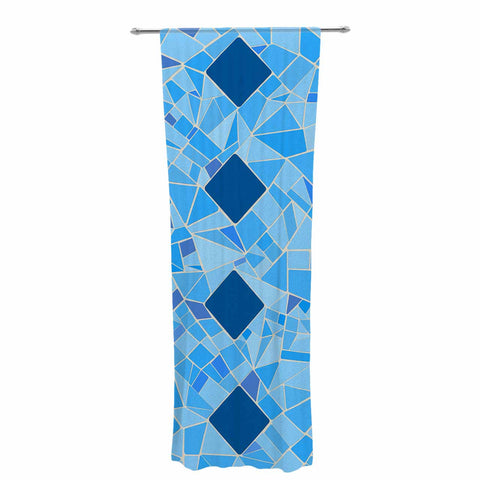 "Afe Images ""Abstract Mosaic Pattern2"" Blue Teal Digital Decorative Sheer Curtain"