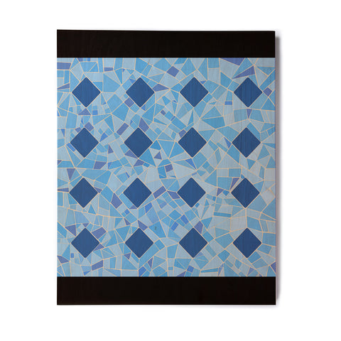 "Afe Images ""Abstract Mosaic Pattern2"" Blue Teal Digital Birchwood Wall Art"