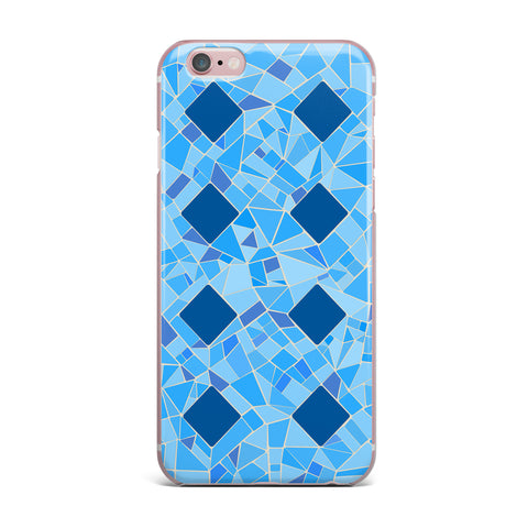 "Afe Images ""Abstract Mosaic Pattern2"" Blue Teal Digital iPhone Case"