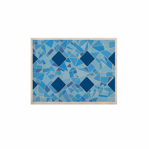 "Afe Images ""Abstract Mosaic Pattern2"" Blue Teal Digital KESS Naturals Canvas (Frame not Included)"