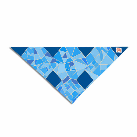 "Afe Images ""Abstract Mosaic Pattern2"" Blue Teal Digital Pet Bandana"