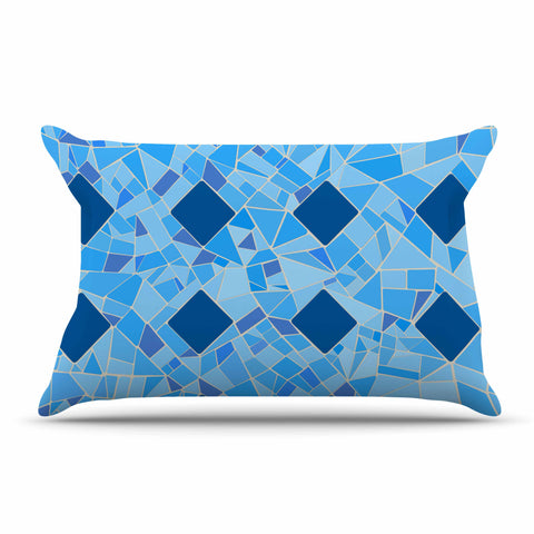 "Afe Images ""Abstract Mosaic Pattern2"" Blue Teal Digital Pillow Sham"