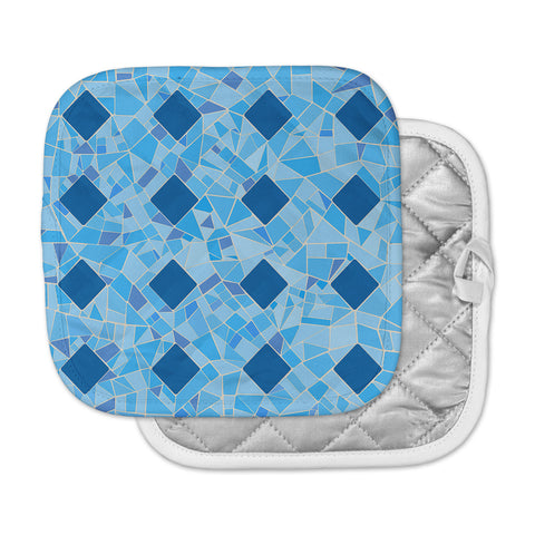 "Afe Images ""Abstract Mosaic Pattern2"" Blue Teal Digital Pot Holder"