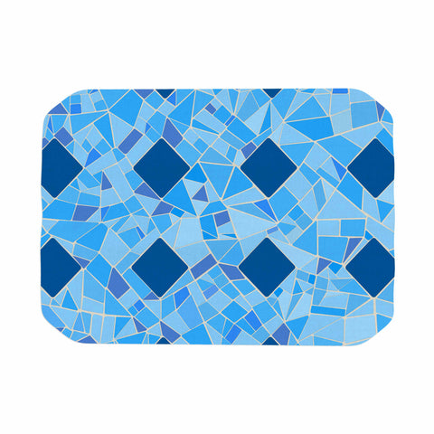"Afe Images ""Abstract Mosaic Pattern2"" Blue Teal Digital Place Mat"
