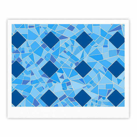 "Afe Images ""Abstract Mosaic Pattern2"" Blue Teal Digital Fine Art Gallery Print"