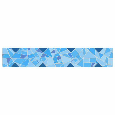 "Afe Images ""Abstract Mosaic Pattern2"" Blue Teal Digital Table Runner"