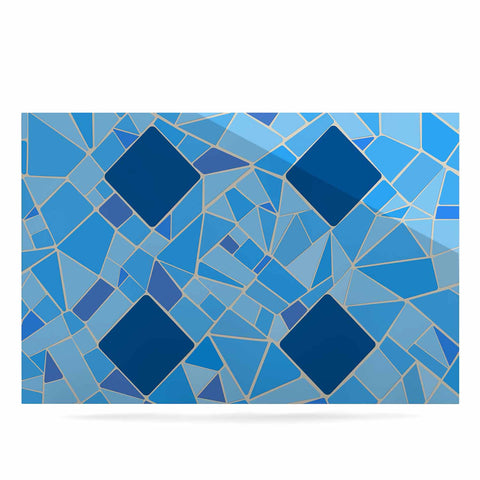 "Afe Images ""Abstract Mosaic Pattern2"" Blue Teal Digital Luxe Rectangle Panel"
