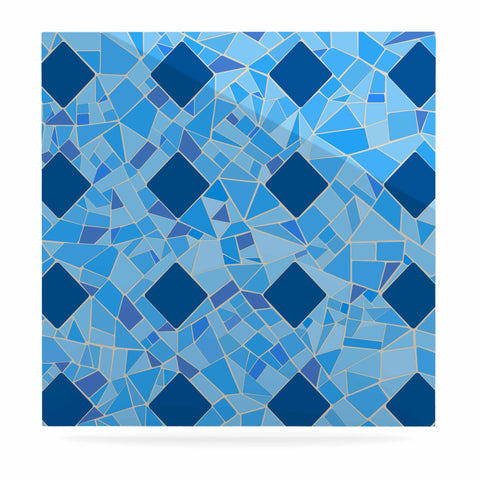 "Afe Images ""Abstract Mosaic Pattern2"" Blue Teal Digital Luxe Square Panel"