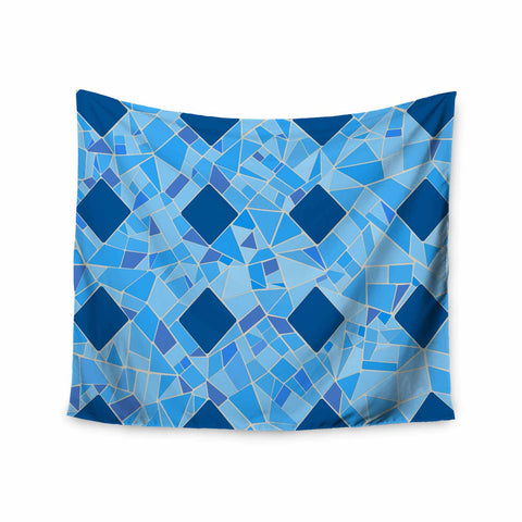 "Afe Images ""Abstract Mosaic Pattern2"" Blue Teal Digital Wall Tapestry"