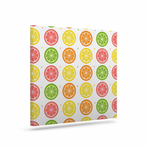 "Afe Images ""Citrus Pattern"" Multicolor Pink Illustration Art Canvas"