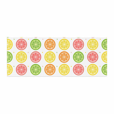 "Afe Images ""Citrus Pattern"" Multicolor Pink Illustration Bed Runner"