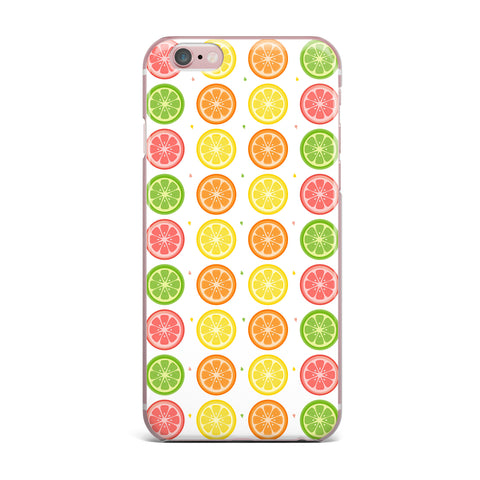 "Afe Images ""Citrus Pattern"" Multicolor Pink Illustration iPhone Case"