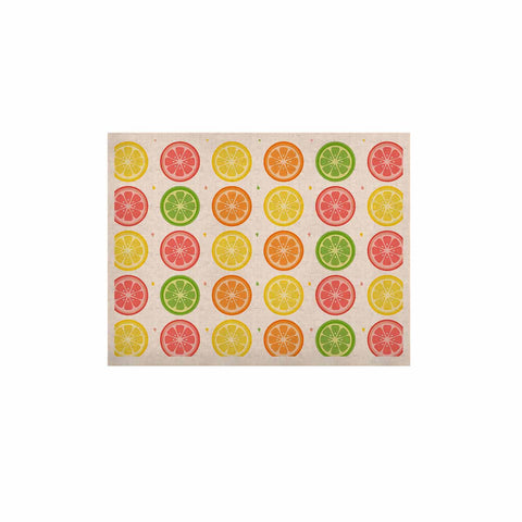 "Afe Images ""Citrus Pattern"" Multicolor Pink Illustration KESS Naturals Canvas (Frame not Included)"