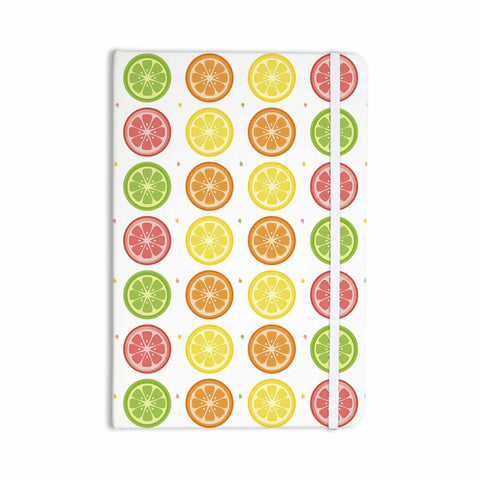 "Afe Images ""Citrus Pattern"" Multicolor Pink Illustration Everything Notebook"