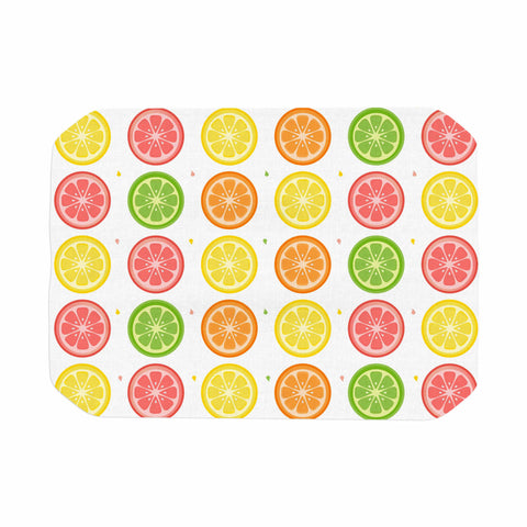 "Afe Images ""Citrus Pattern"" Multicolor Pink Illustration Place Mat"