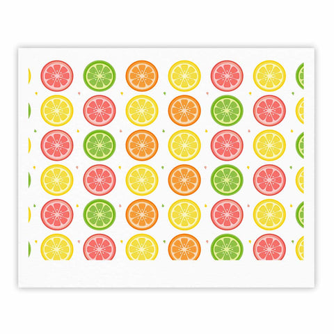 "Afe Images ""Citrus Pattern"" Multicolor Pink Illustration Fine Art Gallery Print"