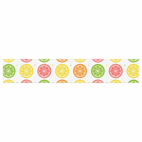 "Afe Images ""Citrus Pattern"" Multicolor Pink Illustration Table Runner"