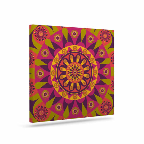 "afe images ""Mandala Design"" Multicolor Modern Ethnic Digital Illustration Art Canvas"